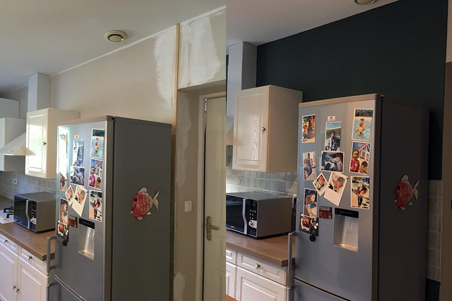 Réalisation peinture cuisine, peintre prades-le-lez, jacou, saint-gely-du-fesc, le-crès, Rubio Courrège