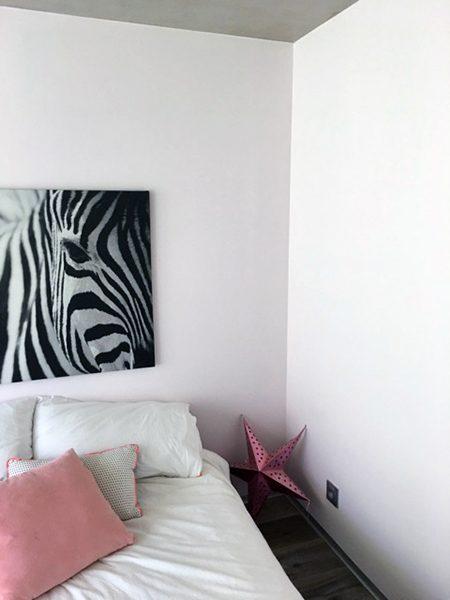 Réalisation chambre peinture rose et blanc, peintreprades-le-lez, jacou, saint-gely-du-fesc, le-crès, Rubio Courrège