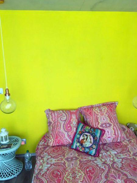 Réalisation peinture chambre rose et vert, peintre prades-le-lez, jacou, saint-gely-du-fesc, le-crès, Rubio Courrège