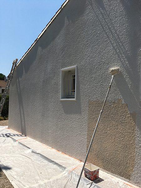 Réalisation façade, peintre prades-le-lez, jacou, saint-gely-du-fesc, le-crès, Rubio Courrège
